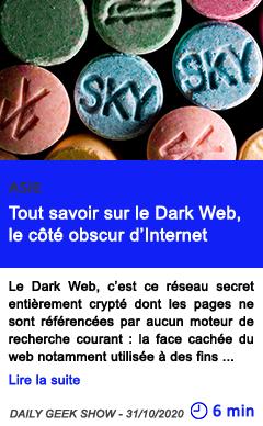 Technologie tout savoir sur le dark web le co te obscur d internet