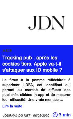 Technologie tracking pub apres les cookies tiers apple va t il s attaquer aux id mobile