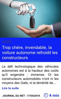 Technologie trop chere invendable la voiture autonome refroidit les constructeurs page001