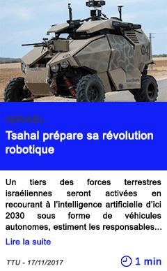 Technologie tsahal prepare sa revolution robotique