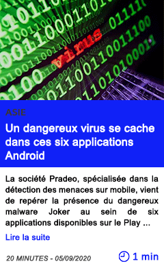 Technologie un dangereux virus se cache dans ces six applications android
