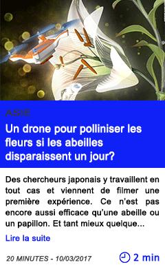 Technologie un drone pour polliniser les fleurs si les abeilles disparaissent un jour