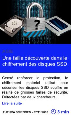 Technologie une faille decouverte dans le chiffrement des disques ssd page001