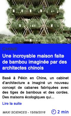 Technologie une incroyable maison faite de bambou imaginee par des architectes chinois