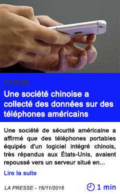Technologie une societe chinoise a collecte des donnees sur des telephones americains