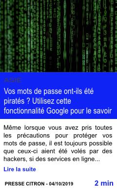 Technologie vos mots de passe ont ils ete pirates utilisez cette fonctionnalite google pour le savoir page001