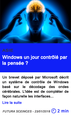 Technologie windows un jour controle par la pensee
