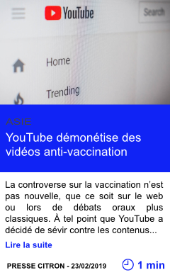 Technologie youtube demonetise des videos anti vaccination page001