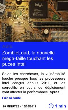 Technologie zombieload la nouvelle mega faille touchant les puces intel page001