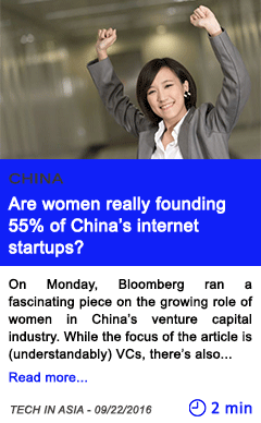 Technology are women really founding 55 of china s internet startups