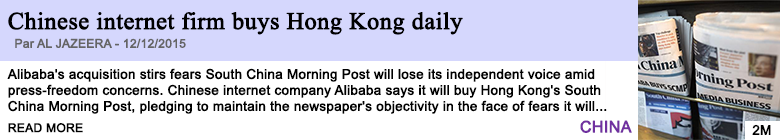 Technology chinese internet firm buys hong kong daily